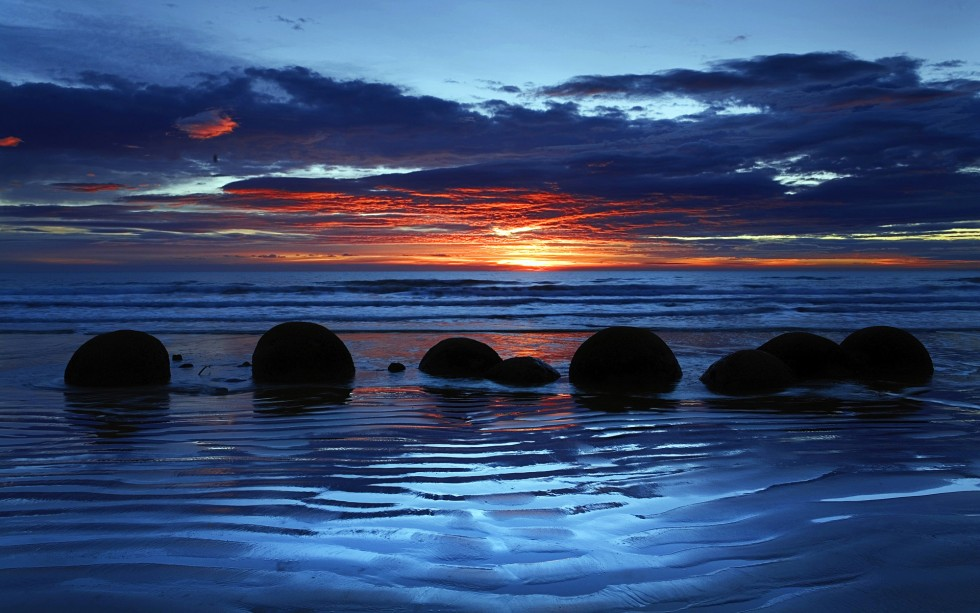 Moeraki Boulders, Koekohe Beach, Otago, South Island, New Zealand