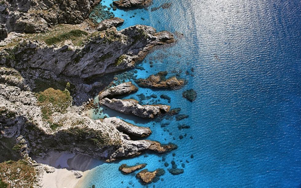 Aerial view, Capo Vaticano, Ricadi, Calabria, Italy